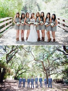 love love love the bridesmaid dresses with the booties!!