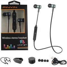 Smarcent Sport Running Bluetooth Headset Wireless Earphone Headphone Bluetooth Earpiece. Function: Waterproof,For Mobile Phone,Sport,For Routine Office Work,Microphone,Voice control,Supports music,Noise Cancelling,Wireless Headphone,Portable,HiFi Headphone,For iPod,BluetoothSupport APP: NoTime to market: 2016Active Noise-Cancellation: NoSensitivity: 119±3dBResistance: 14ΩSupport Apt-x: NoSupport Memory Card: NoWaterproof: YesConnectors: NoneVocalism Principle: DynamicIs wireless: YesBrand…