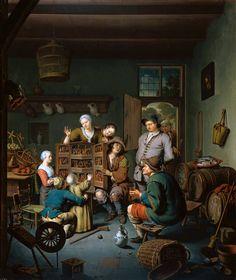 Willem Van Mieris - De Rarekiek Sun