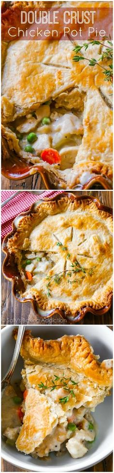 This double crust chicken pot pie is perfect when you're looking for comfort food and don't have all the time and energy in the world to whip it up!