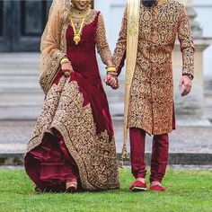 Wedding indian dress men bridal lehenga ideas for 2019 Indian Bridal Outfits, Pakistani Wedding Dresses, Indian Dresses, Wedding Hijab Styles, Pakistani Wedding Photography, Punjabi Wedding, Groom Outfit, Groom Dress, Couple Wedding Dress