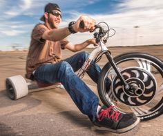 Motorized Drifting Tricycle  Redefine what it means to live on the edge when you take the helm of the motorized drifting tricycle. This aint no schoolyard trike  the motorized tricycle is designed for extreme riding action thatll turn any empty parking lot into your personal playground.  $1560.00  Check It Out  Awesome Sht You Can Buy