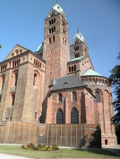 OTTONIAN ARCHITECTURE - The cathedral of Speyer, East-end view, Germany, begun 1030.
