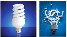 در هنگام شکستن لامپ کم مصرف چه کنیم؟