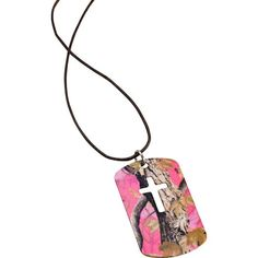 Women's God's Country Camo Cut Cross Necklace  deergear.com #LegendaryWhitetails