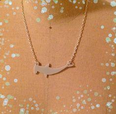 Hammerhead Shark Necklace Ocean Animal Necklace by purpleandlime, $18.00