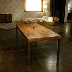 reclaimed dining table from Croft House in la