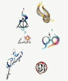 Water colour Harry Potter tattoos by Lady Pirates Tattoo Studio in Leigh-on-Sea,.- Water colour Harry Potter tattoos by Lady Pirates Tattoo Studio in Leigh-on-Sea,… Water colour Harry Potter tattoos by Lady Pirates Tattoo… - Harry Potter Tattoos, Harry Potter Symbols, Arte Do Harry Potter, Harry Potter Deathly Hallows, Harry Potter Tumblr, Harry Potter Quotes, Harry Potter Hogwarts, Wallpaper Harry Potter, Harry Potter Artwork
