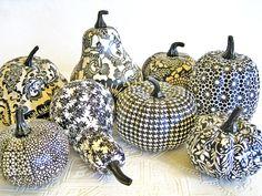 ✿ڿڰۣ Decoupage Pumpkins and Squash    #halloween #diy #craft #decorate #october