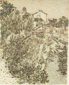 Garden with Flowers, A  Arles: August, 1888 (New York, William Acquavella)
