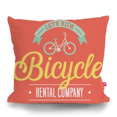 Cushion Cover BICYCLE RENTAL by Sticky!!!