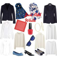 Every Wardrobe Needs a Touch of White by tishjett on Polyvore featuring H&M, Uniqlo, Hunkydory, Jil Sander Navy, STELLA McCARTNEY, Accessorize, Office, Soft Style, Bling Jewelry and BeckSöndergaard