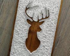 Deer Head String Art Template Pattern Crafting Design | Etsy String Art Templates, String Art Patterns, String Crafts, Fun Crafts, Anchor String Art, Elephant Template, Craft Night, Yarn Colors, Pattern Art