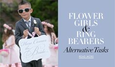Alternative Tasks for the Ring Bearer and Flower Girl | Photography: Marianna Lozano Photography. Read More:  http://www.insideweddings.com/news/planning-design/unique-duties-for-your-flower-girl-and-ring-bearer/2888/