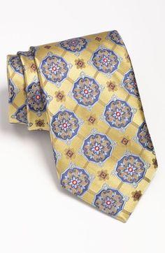 robert talbott | Robert Talbott Woven Silk Tie in Blue for Men (gold) - Lyst