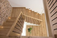 House Staircase, Staircase Remodel, Stair Railing Design, Stairs In Living Room, Half Walls, Stairways, Entrance, House Plans, New Homes