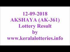 Kerala lottery result of Akshaya AK-361 on 12-09-2018