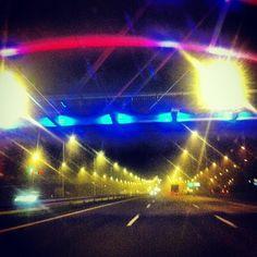 Obwodnica Karczemki  #gdansk by night #igersgdansk  (at Kladka Rowerowo-Piesza - Wezel Karczemki)