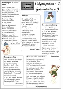 L'hiver en poésie Christmas Poems, Christmas Concert, French Teacher, Teaching French, French Poems, Poetry Unit, Winter Songs, Core French, French Classroom