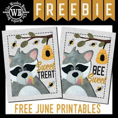 FREEBIE June Printable Printable Fabric, Printable Stickers, Electric Quilt, Small Sewing Projects, Bear Design, Vinyl Sheets, Running Stitch, Craft Fairs, Christmas Crafts
