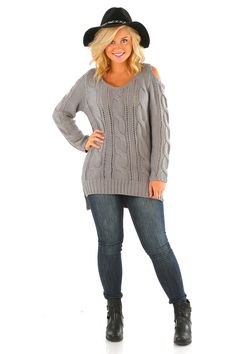 Perfect Harmony Sweater: Gray #shophopes