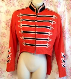 Vtg Military Marching Band Ringleader Ornate Jacket Tails XS Sgt Pepper Punk