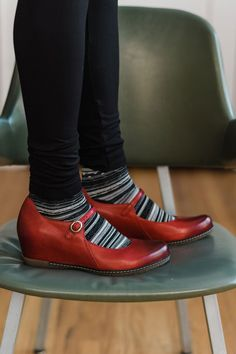 c96edf8adc2 Red wedges with arch support! The  Dansko Loralei is one of our favorite new