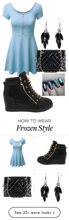 """""""Untitled #1306"""" by mikupayneluvs1d on Polyvore featuring Chanel, Alexa Starr, Disney, women's clothing, women, female, woman, misses and juniors"""