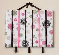 Brooke - 11x 14 Bow Board Baby Girl Hair Clip Barrette Bow Holder Organizer Frame