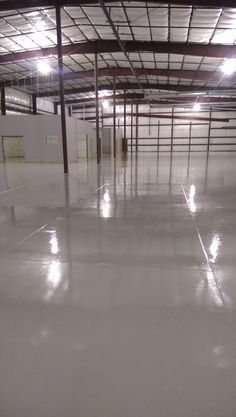 123 Resinous Epoxy Floor in Factory in Des Moines, Iowa.