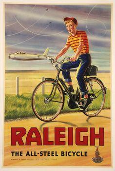 Vintage Raleigh Bike Poster