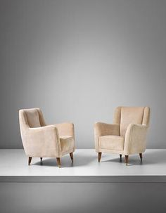 Artist: Gio Ponti Title: Pair of armchairs, model no. 533, designed for the ballroom of the Giulio Cesare transatlantic ocean liner Lot Number: 33 Estimate: HK$90,000.00 - 120,000.00  Auction: 20TH CENTURY & CONTEMPORARY ART & DESIGN EVENING SALE Location: HONG KONG Sale Date: 27 NOVEMBER 2016 Website: http://www.phillips.com Phone: US +1 212 940 1228 UK +44 20 7318 4045  Try the Phillips app for yourself -- available from the iTunes App Store http://itunes.apple.com/app/id397496674