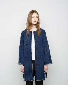 Isabel Marant Étoile   Fany+Chevron+Denim+Coat   La Garçonne
