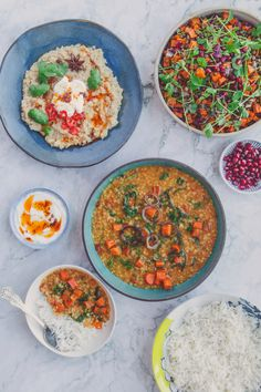 3 savoury recipes that bring lentils into the limelight | Spiced, comforting, hardy and delicious dishes especially perfect for winter. Shayma Owaise Saadat's recipes for: Dal aur Sabzi: Lentils with Roasted Carrots and Kale, Khichdi, Sweet Potato and Lentil Salad in a Sweet and Sour Lime Vinaigrette. What to cook in winter. Vegetarian recipe. Comfort food. Roasted Carrots, Roasted Sweet Potatoes, Roasted Vegetables, Savoury Recipes, Vegetarian Recipes, Lime Vinaigrette, One Pot Dishes, Salad With Sweet Potato, Lentil Salad