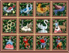 The 12 Days of Christmas: December 25 to January 5. Supposedly the song refers to these symbols: Jesus, the Old & New Testaments, the 3 kings bearing gifts, the 4 gospels, the Pentateuch or Torah, the 6 days of Creation, the 7 gifts of the Holy Spirit, the 8 Beatitudes, the 9 fruits of the Holy Spirit, the 10 Commandments, the 11 faithful Apostles, and the 12 points of the Apostles' creed.