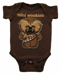 Amazon.com: Star Wars Mini Wookiee Chewbacca Mini Fine Movie Baby Creeper Romper Snapsuit Onesie Size: 0-6 Months: Clothing