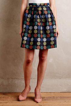Dotset Mini Skirt - anthropologie.com