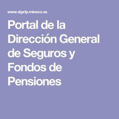 Portal de la Dirección General de Seguros y Fondos de Pensiones