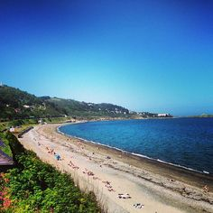 Another top spot for a #swim in the city, #Killiney #beach offers up a sandy strand wrapping around the south coastline #LoveDublin