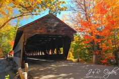Albany Covered Bridge - Kancamagus Highway, White Mountains, New Hampshire (34 miles. Between Conway and Lincoln)