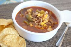 Share Now: Slow cooker stuffed pepper soup can simmer all day while you play in…