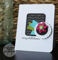 Reverse Confetti | Chevron Pretty Panels Confetti Cuts, Circles 'n Scallops Confetti Cuts, Petals 'n Posies Confetti Cuts, Whole Lotta Dots, Beautiful Banners | wedding card