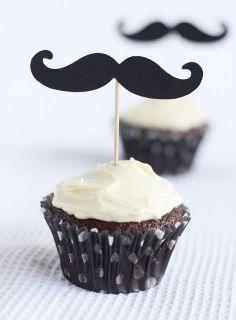 mustache cupcakes!