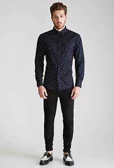Star-Printed Collared Shirt | 21 MEN - 2000101235