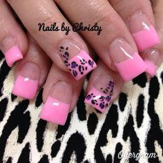 only black with fuchsia leopard design