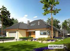 Astrid III G2 - projekt domu - Archipelag My Home Design, House Design, Bungalow House Plans, Design Case, Malaga, Floor Plans, Flooring, House Styles, Outdoor Decor