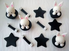 Edible Magic Cupcake Toppers - Fondant Cupcake Toppers - Magic Show. $22.00, via Etsy.