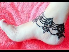 Beautiful Foot Mehndi Design 2016 | Leg Henna Simple and Easy for Eid | Teej - Naush Artistica - YouTube