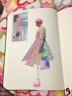 #Fashion sketchbook #gedrucktes #Skizzenbucharbeit #Trikotprojekt printed jersey project - sketchbook work        gedrucktes Trikotprojekt - Skizzenbucharbeit