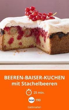 Beeren-Baiser-Kuchen - mit Stachelbeeren - smarter - Kalorien: 190 Kcal - Zeit: 25 Min. | eatsmarter.de